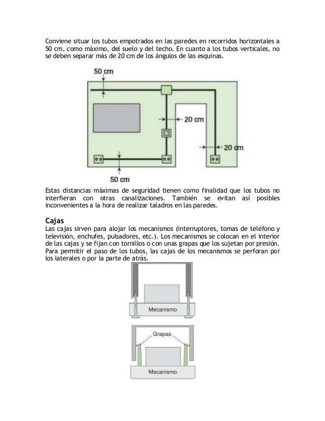 Cajas de derivaciónLas cajas de derivación también se perforan para permitir el paso de los tubos yse colocan siempre de 3...