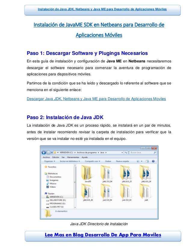 Lee Mas en Blog Desarrollo De App Para Moviles Instalación de Java JDK, Netbeans y Java ME para Desarrollo de Aplicaciones...