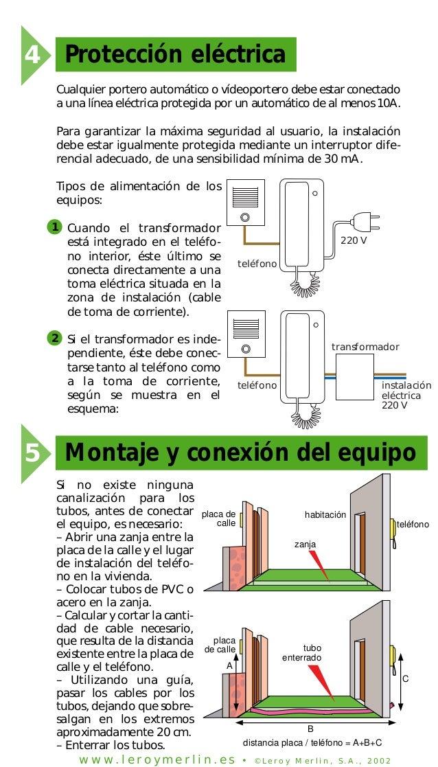 Instalacion de porteros electricos y videoporteros - Instalacion de videoportero ...