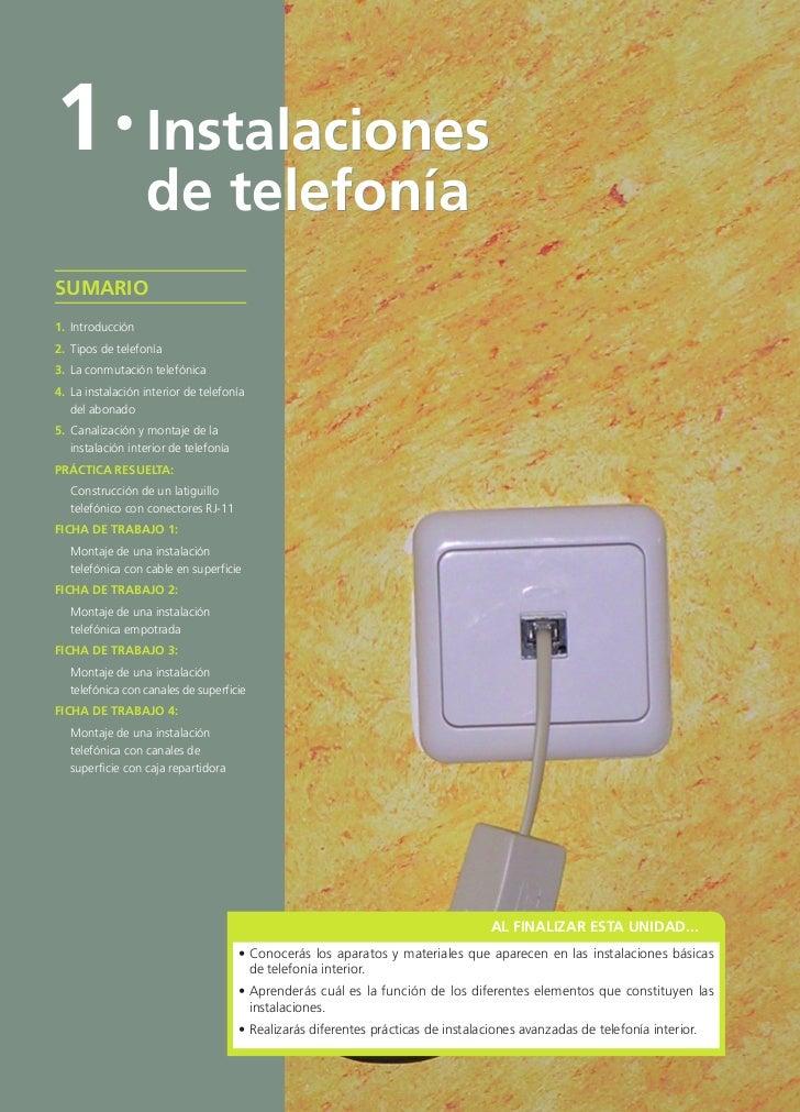INS_TELECOMU_01.qxd       10/3/09    16:00     Página 4        1 · Instalaciones                           de telefonía   ...