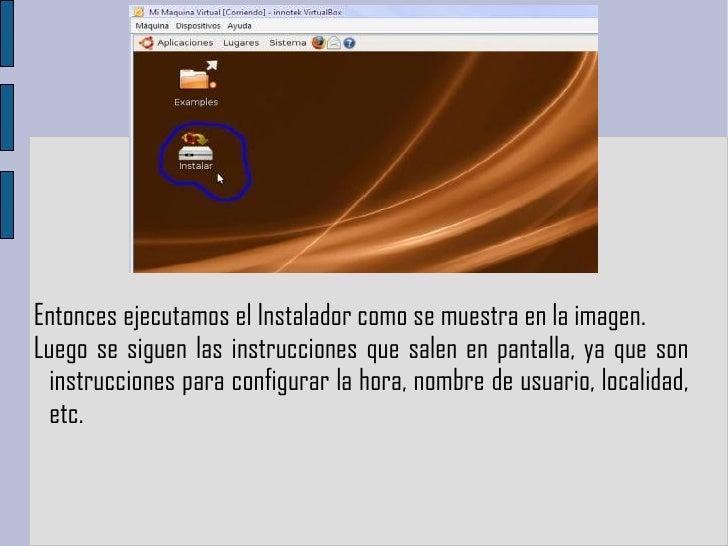 Entonces ejecutamos el Instalador como se muestra en la imagen.  Luego se siguen las instrucciones que salen en pantalla, ...