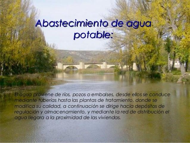 La instalación de fontanería:La instalación de fontanería: El conjunto de instalaciones que canalizan el agua desde la red...