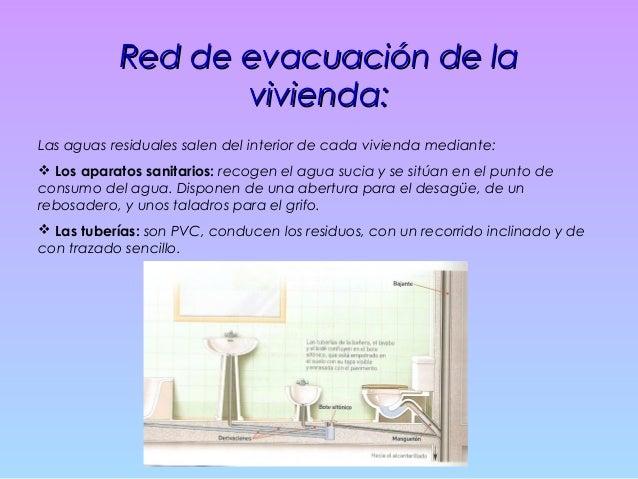 Red general de evacuación:Red general de evacuación: Compuesta por:  Las bajantes: Conducciones encargadas de enlazar los...