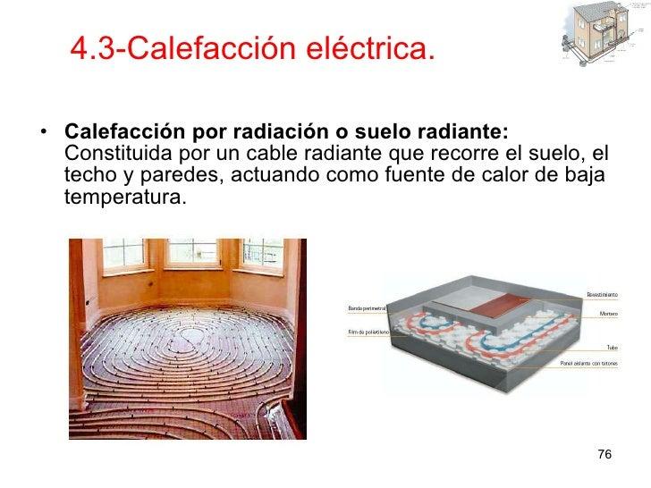Instalaciones en viviendas y edificios - Calefaccion por hilo radiante ...