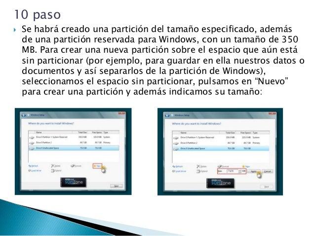 12 paso  Proceso de instalación de Windows 8 Llegados a este punto, comienza el proceso de instalación de Windows 8, que ...