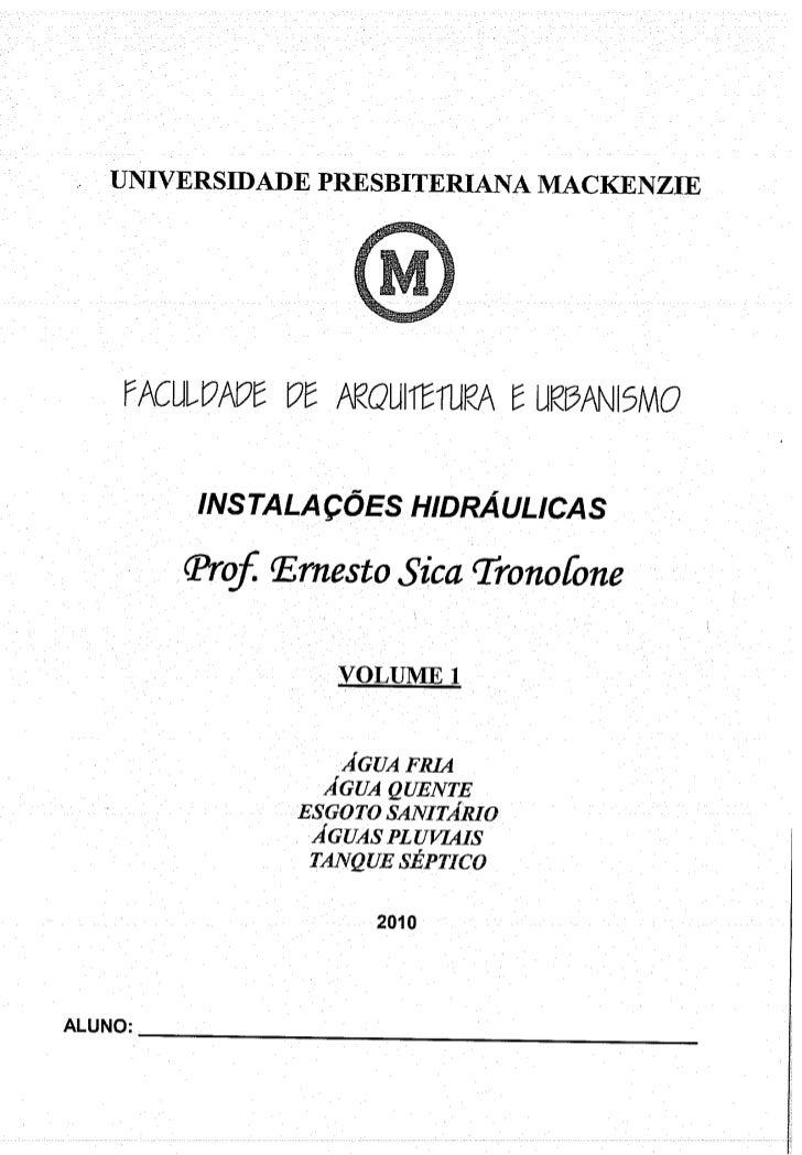 Hidráulica - Instalações volume 1