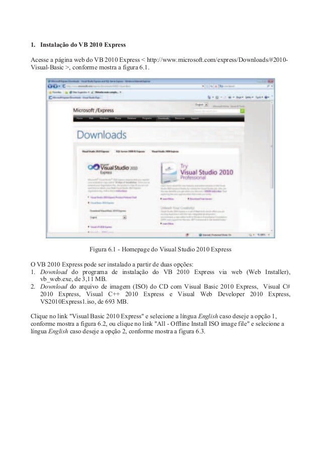 Instalando Visual Studio 2010 Express