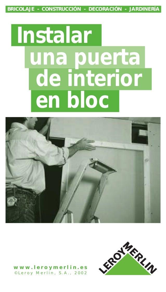 Instalar una puerta de interior en for Como cambiar una puerta de interior