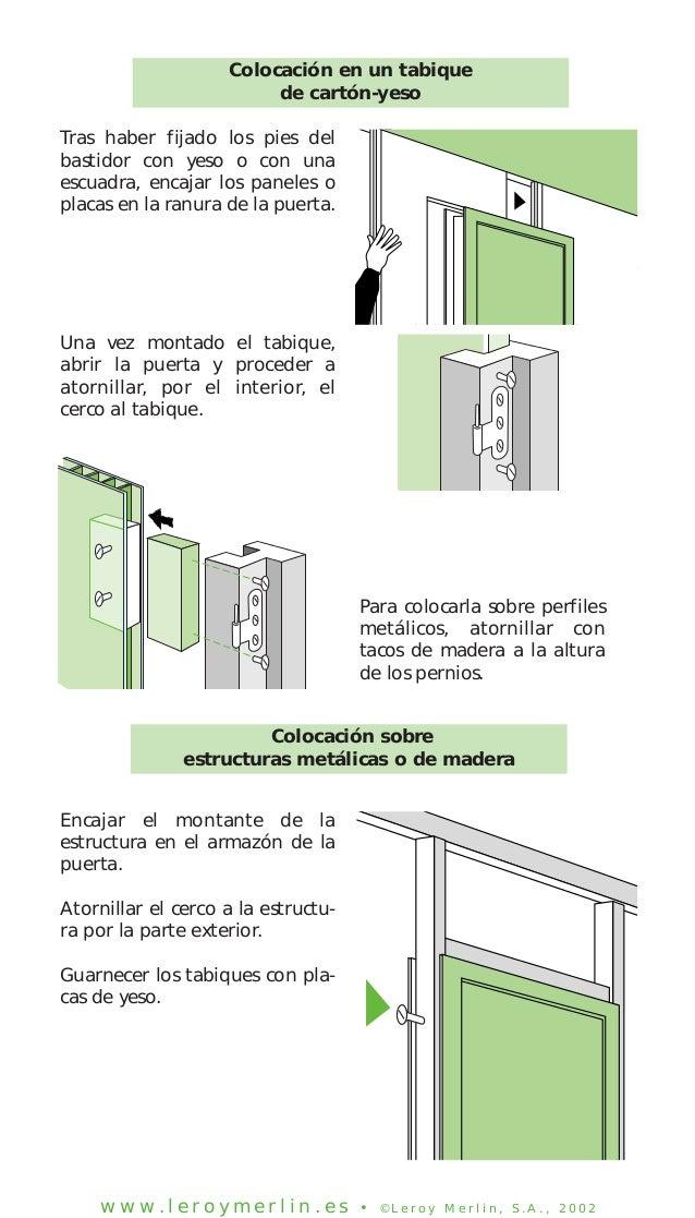 Instalar una puerta de interior en for Como montar una puerta