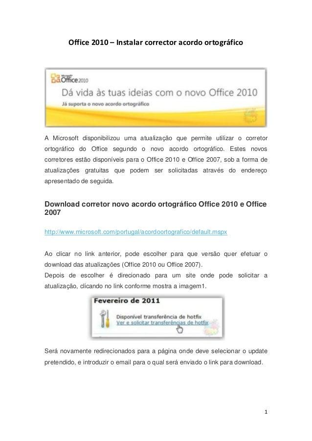 ORTOGRAFICO 2007 OFFICE BAIXAR CORRETOR PARA