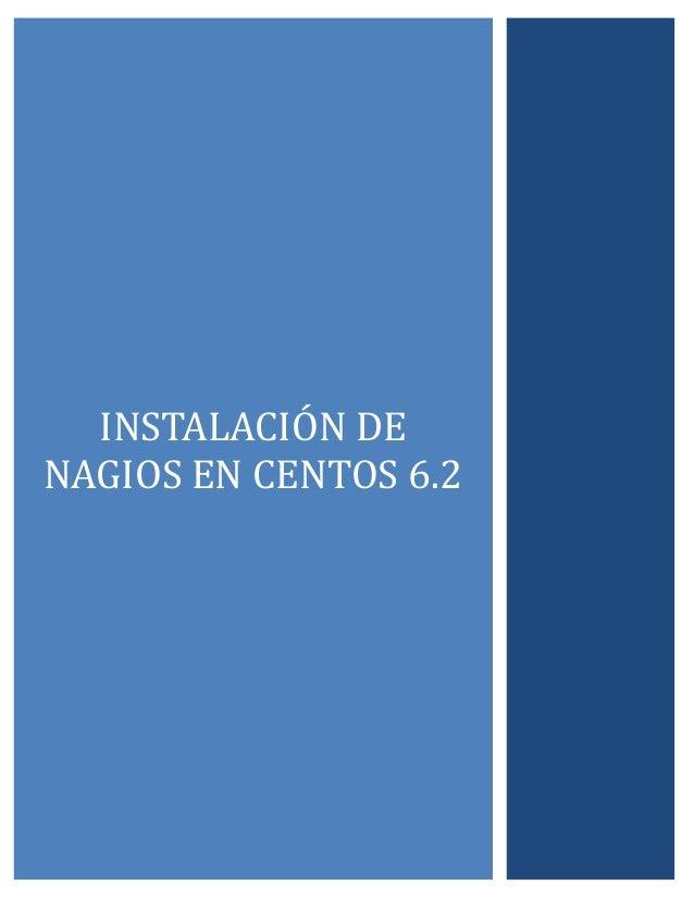 INSTALACIÓN DE NAGIÓS EN CENTÓS 6.2