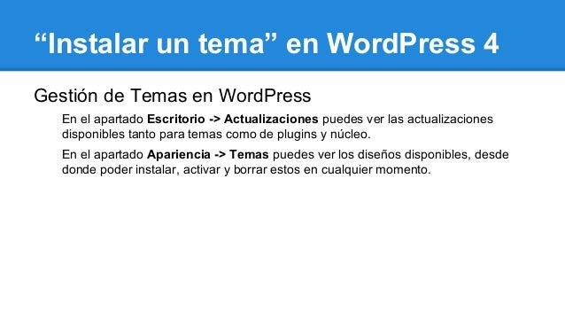 Como Instalar un tema en WordPress