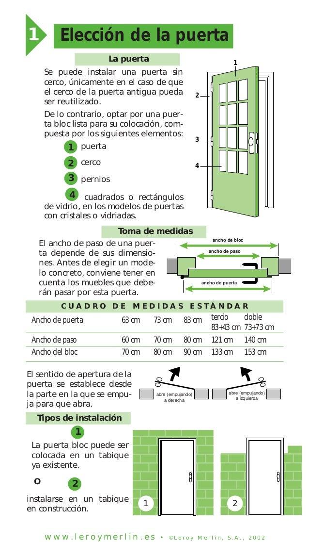 Instalar una puerta de interior en block - Medidas puertas de interior ...