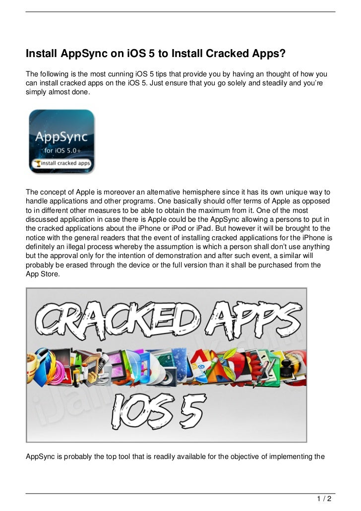 Install AppSync on iOS 5 to Install Cracked Apps?