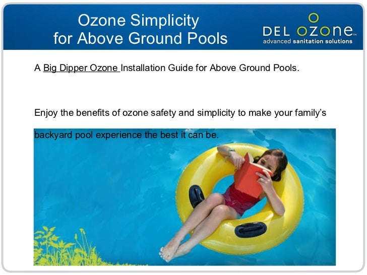Above ground pool ozone installation for Buying an above ground pool guide