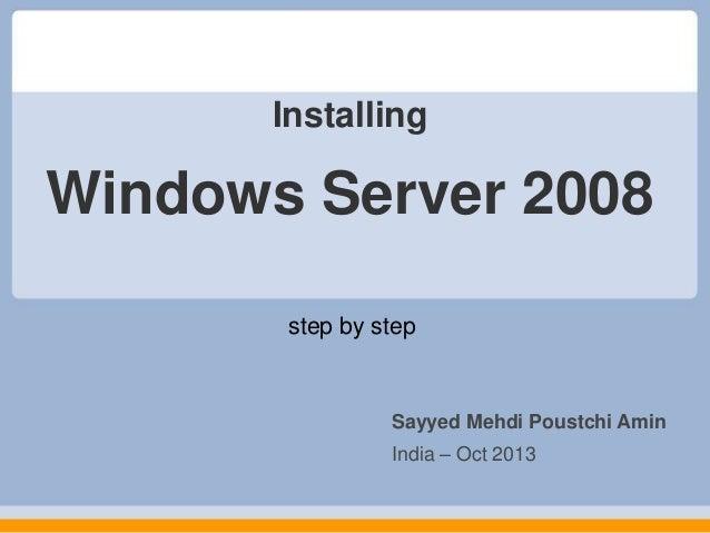 installer le service pack Windows Server 2008