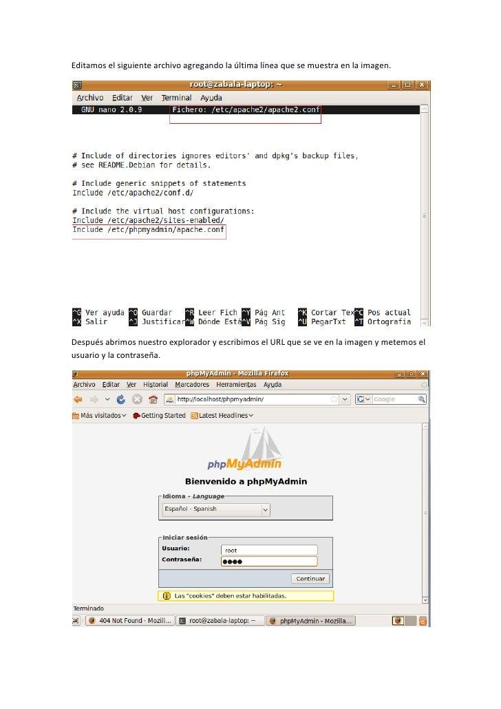 Installacion De Una Base De Datos Mysql En Linux