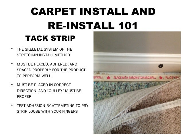 Carpet Install And Re Install 101