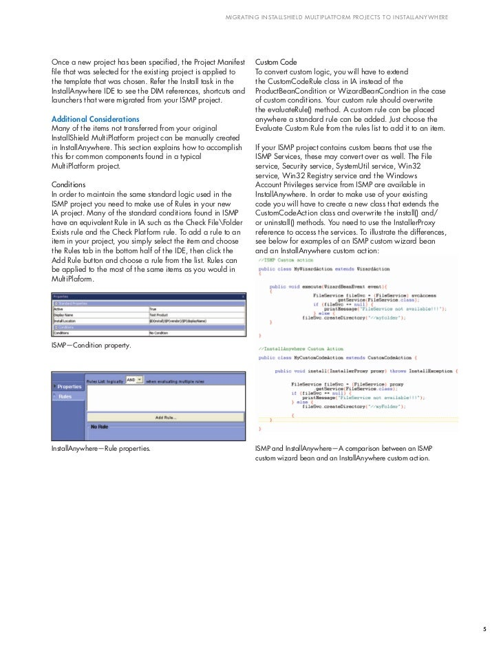 Migrating InstallShield MultiPlatform Projects to InstallAnywhere