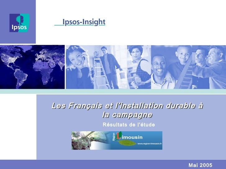 Les Français et l'installation durable à la campagne Résultats de l'étude Mai 2005