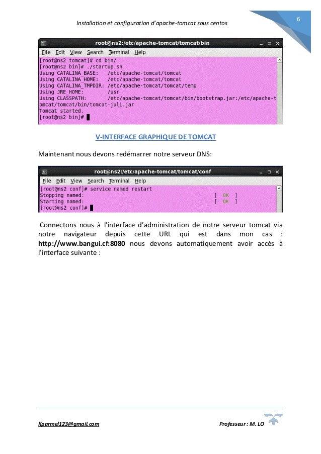 Installation et configuration du serveur Apache Tomcat