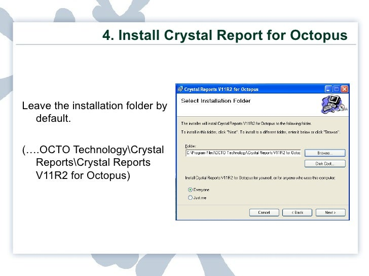 installation guide octopus rh slideshare net crystal reports guidelines crystal reports user guide