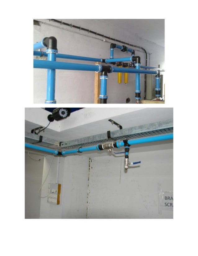 compressed air piping system Installation
