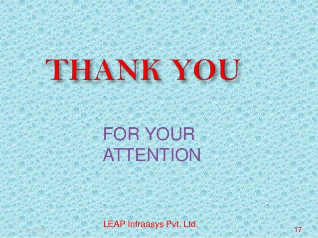 FOR YOUR ATTENTION  11/22/2013  LEAP Infraasys Pvt. Ltd.  17