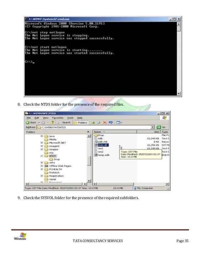 Installation of Active Directory on Windows Server 2003 Server