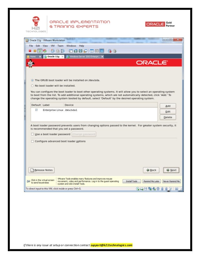 Installation of Oracle Linux 5 4 32 bit on vmware