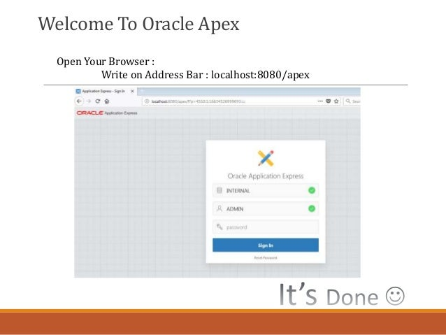 Oracle Apex Installation