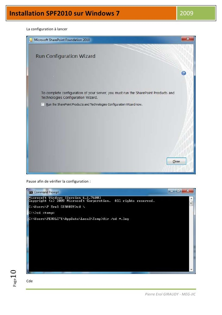 Installation spf2010 sur windows 7 - Installer office sur windows 8 ...