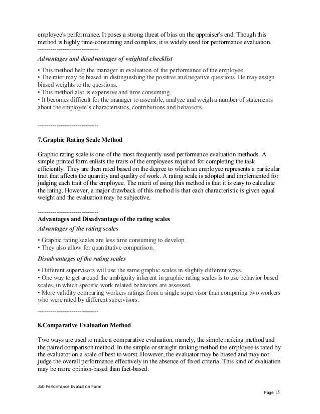 Installation Supervisor Performance Appraisal