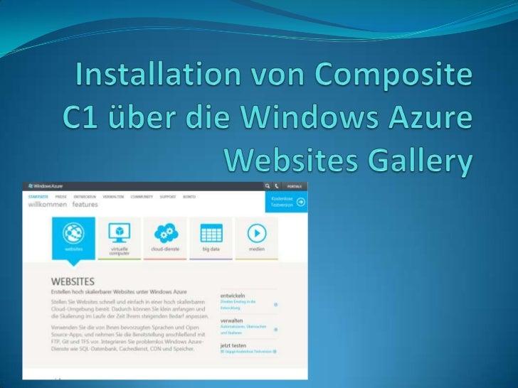 Microsoft bietet unter dem Namen Windows Azure Websites einen neuen,sich derzeit noch in der Preview-Phase befindlichen Di...