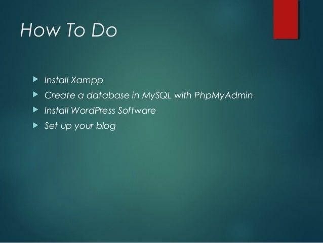 Installation xampp and WordPress on localhost slideshare - 웹