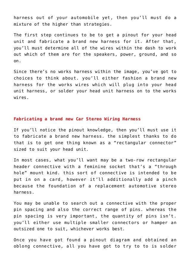 Car Stereo Wiring Diagram Solder from image.slidesharecdn.com