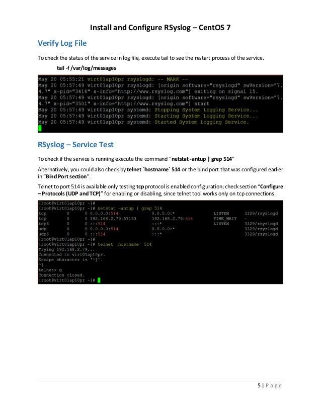 Install and Configure RSyslog – CentOS 7 / RHEL 7