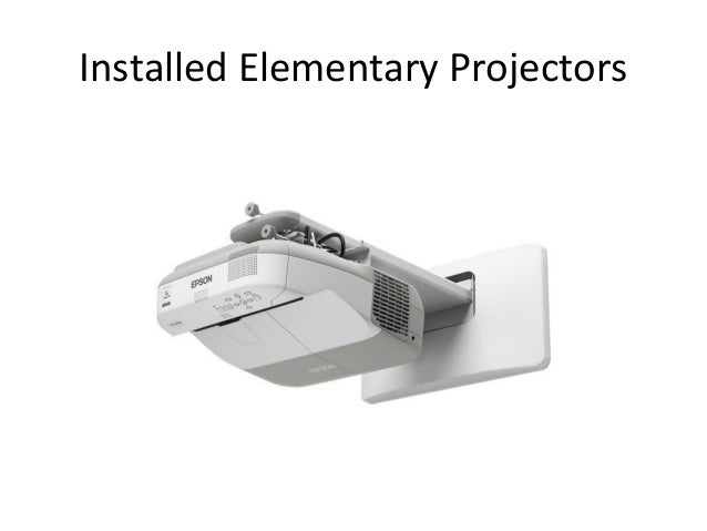 Installed Elementary Projectors 2014