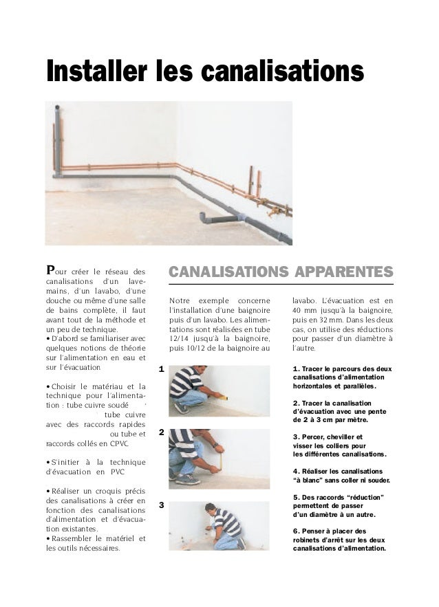 Installer les canalisations - Remontee d odeur des canalisations ...