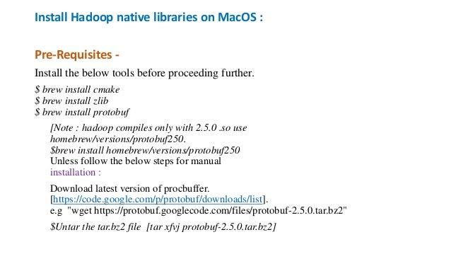 Install Apache Hadoop on Mac OS Sierra