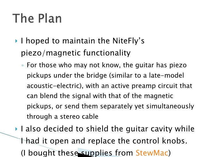 installing emgs into my parker nitefly rh slideshare net Parker Nitefly Candy Case Parker Guitars Are Made Where