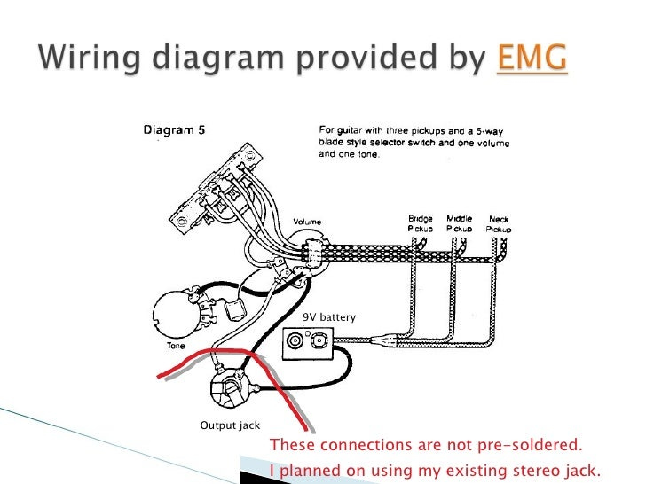 installing emgs into my parker nitefly rh slideshare net Single Pickup Guitar Wiring Diagram Fender Guitar Wiring Diagrams