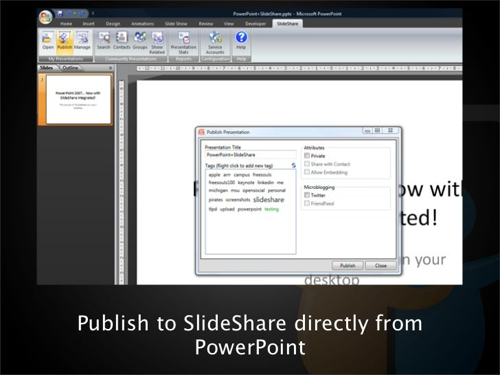 installing the slideshare ribbon in powerpoint