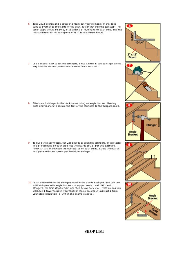 Installing deck stairs