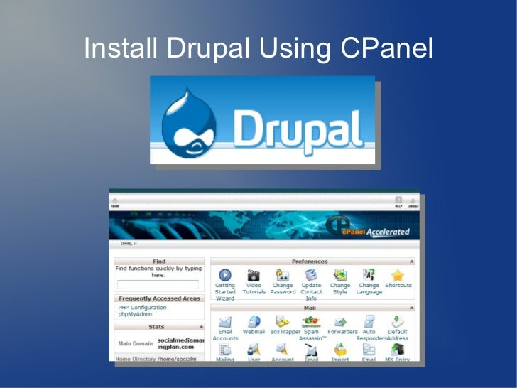 how to go to cpanel in drupal