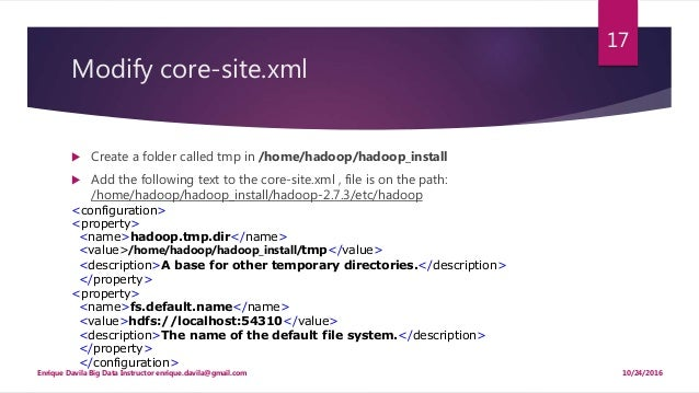 Installing hadoop on ubuntu 16