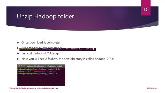 Installing hadoop on ubuntu 16