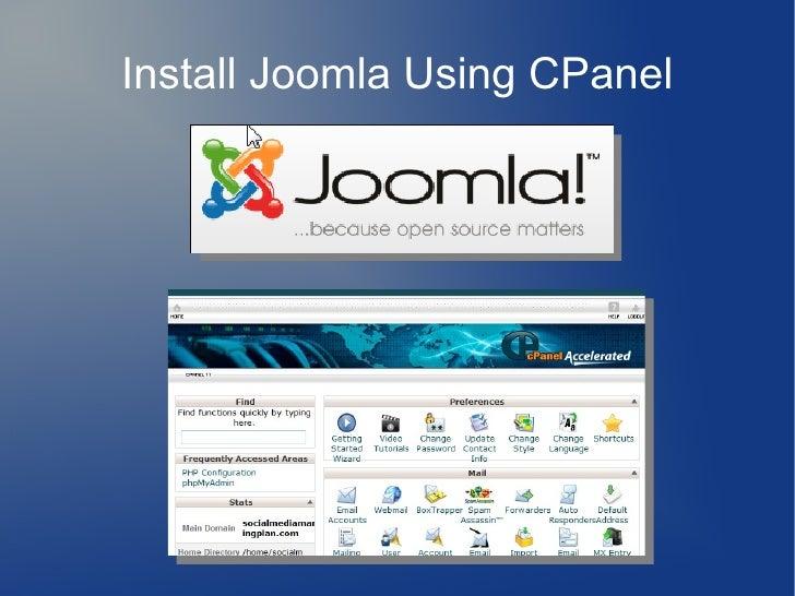 Install Joomla Using CPanel
