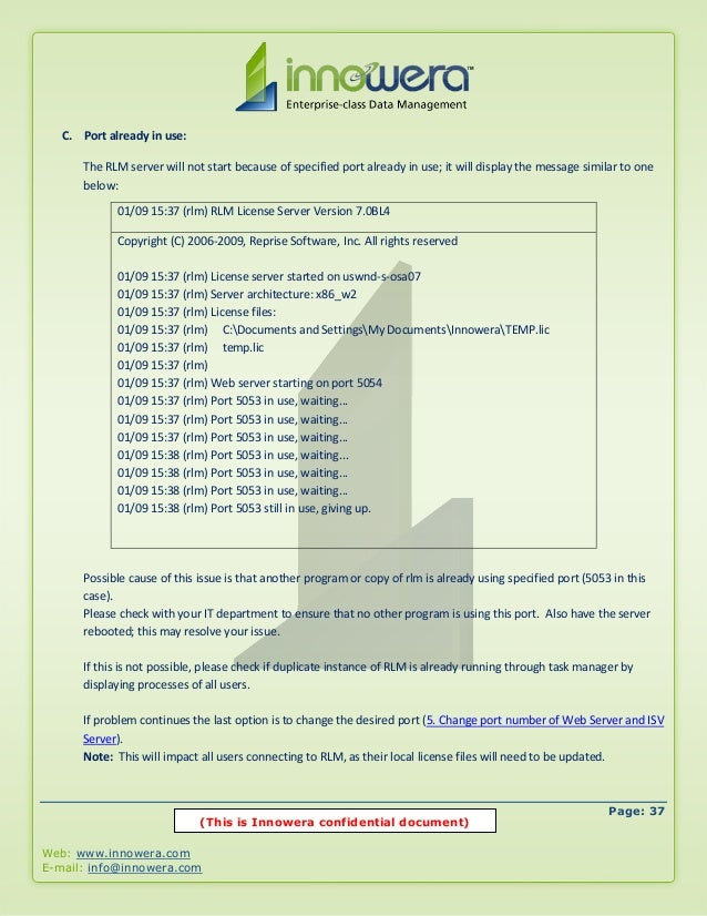 Installing license server
