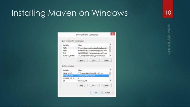 Installing maven on windows